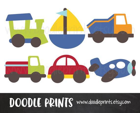 Transportation clipart printable. Cars digital scrapbook clip