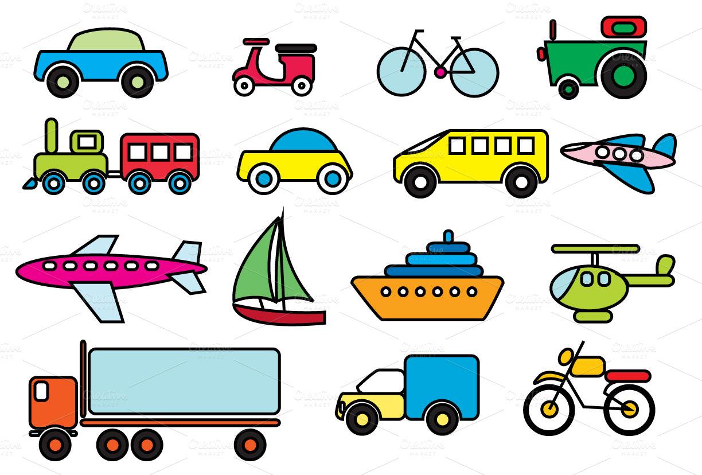 transportation clipart roadways