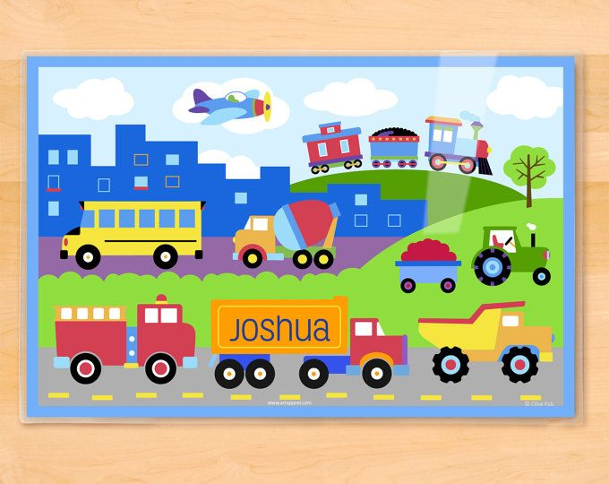 Transportation clipart scene. Trains planes and trucks