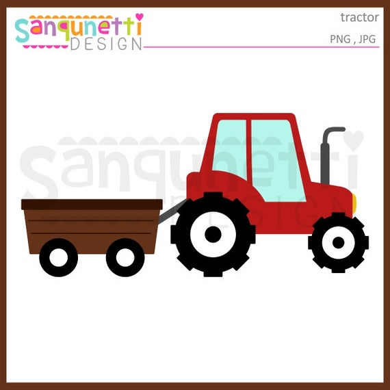 Wagon clipart farm wagon. Tractor transportation instant download