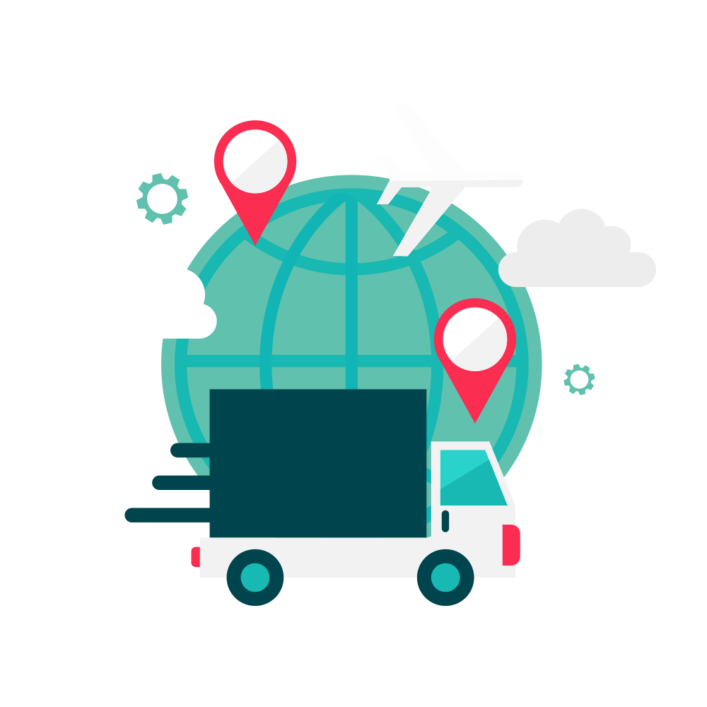 Logistics clip art global. Transportation clipart transportation technology