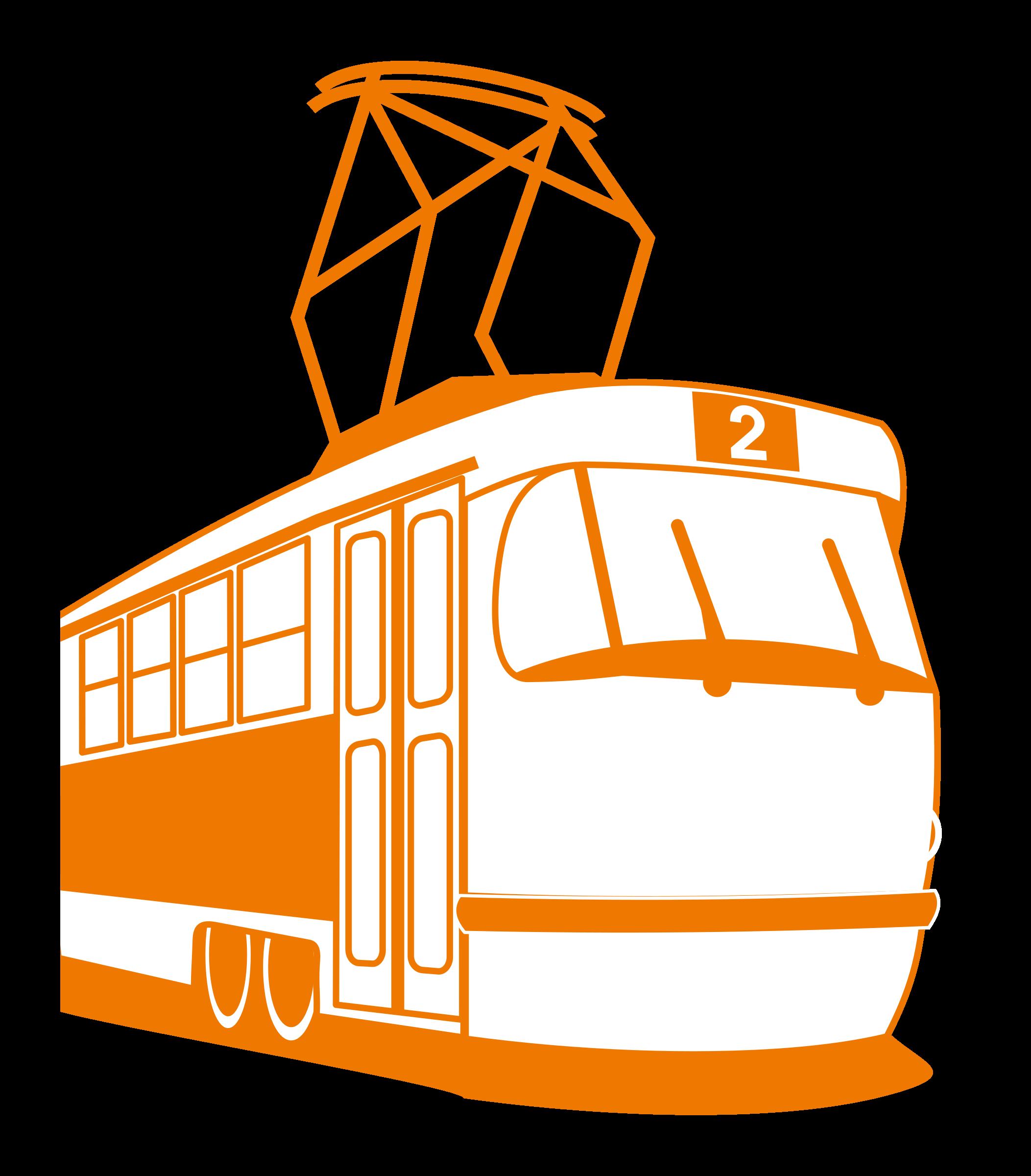 Tramway big image png. Transportation clipart urban transport