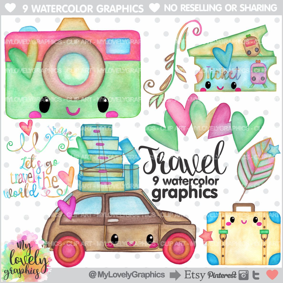 Traveling clipart. Travel graphics commercial use
