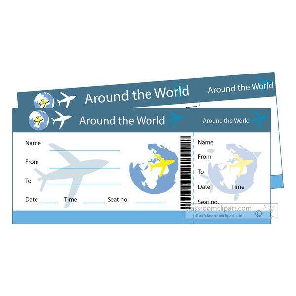 Travel around the world. Traveling clipart plane ticket