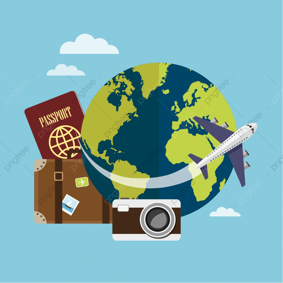 Traveling clipart travel plan. Around the world by