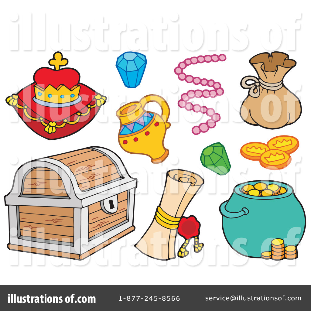 Illustration by visekart royaltyfree. Treasure clipart