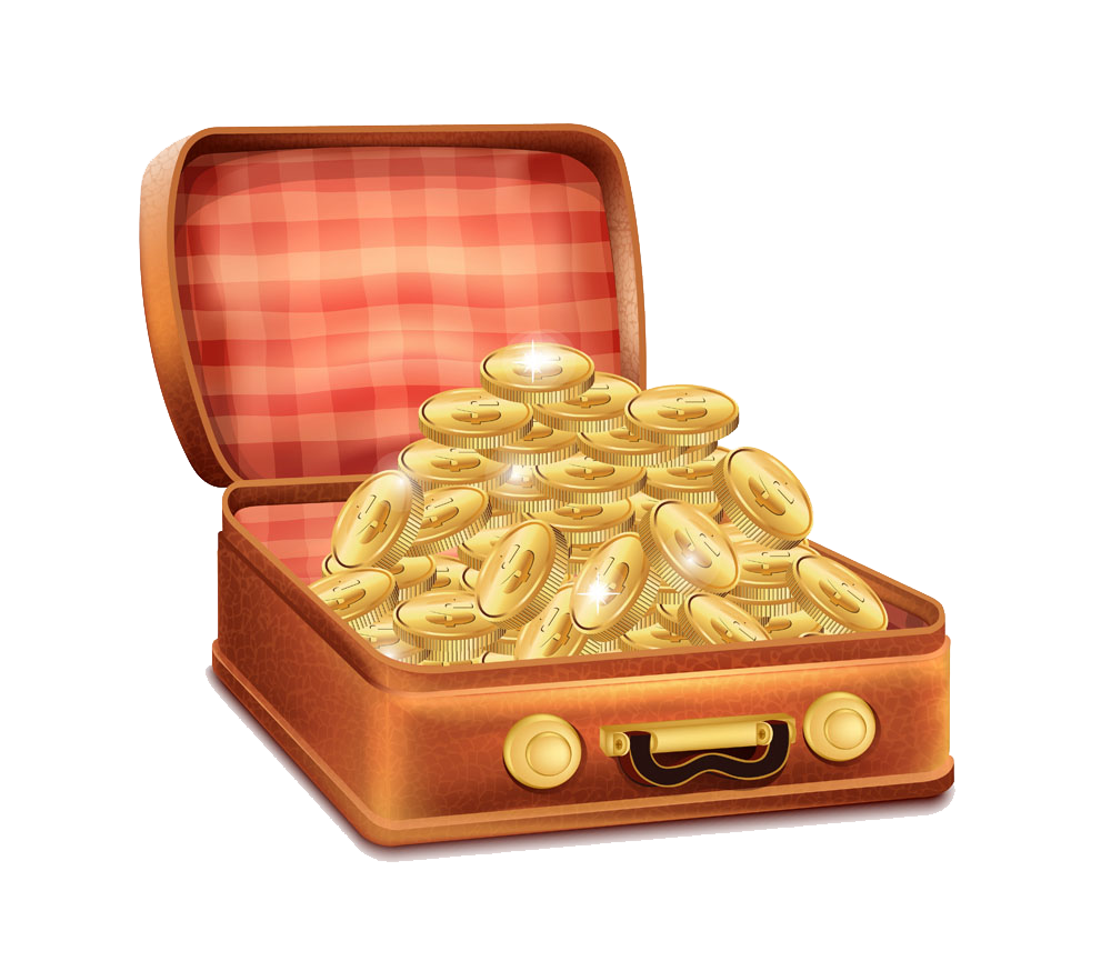 Suitcase royalty free clip. Treasure clipart bag gold coin