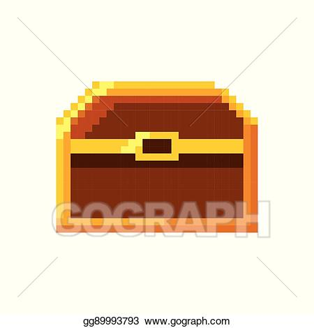 Eps illustration video game. Treasure clipart baul