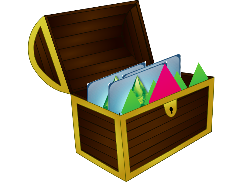 Ba l de descargas. Treasure clipart baul