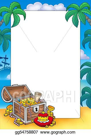 Stock illustration frame with. Treasure clipart big