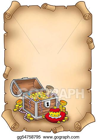 Stock illustrations parchment with. Treasure clipart big