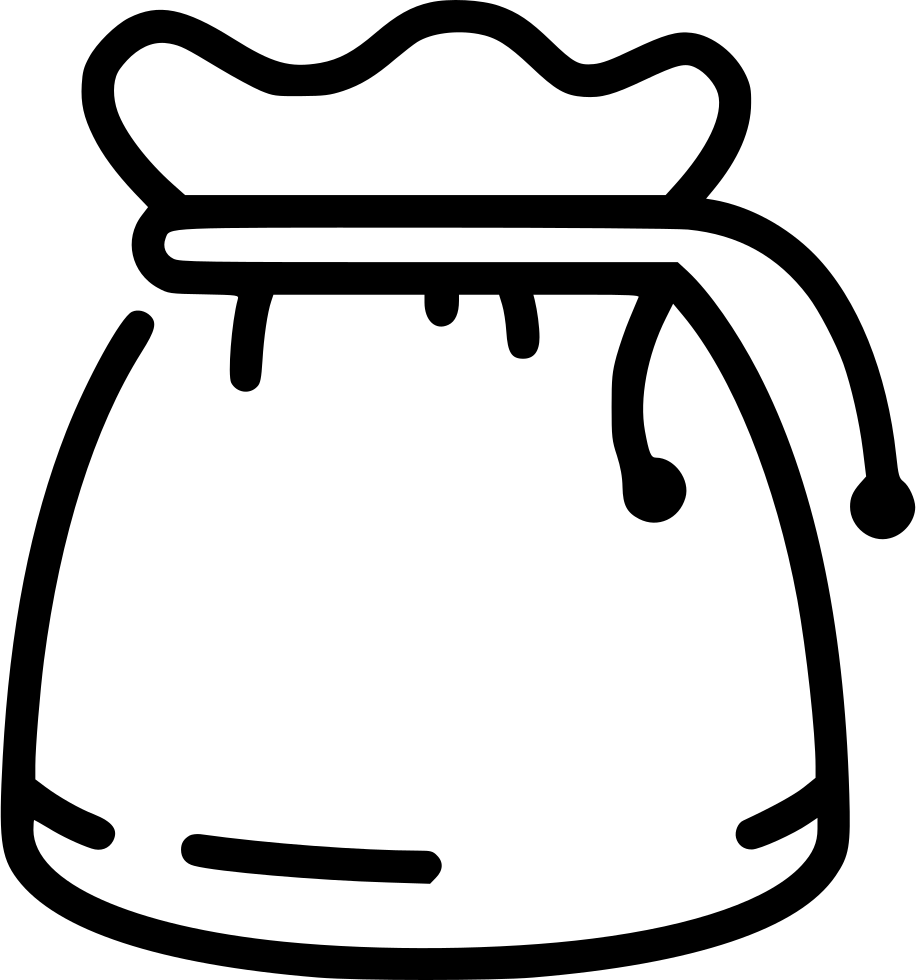 Treasure clipart black and white. Bag svg png icon