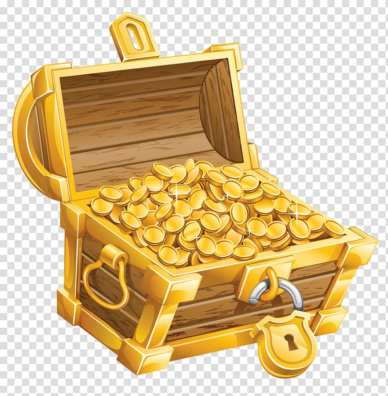 Buried chest transparent . Treasure clipart burried