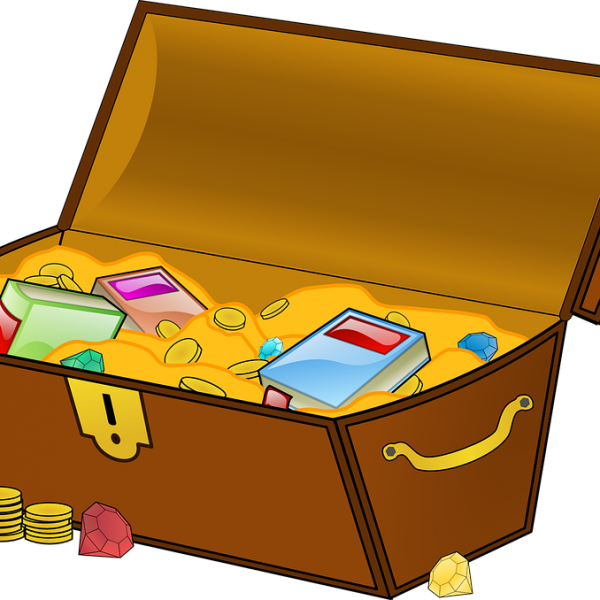 Treasure clipart community chest.  grant now open