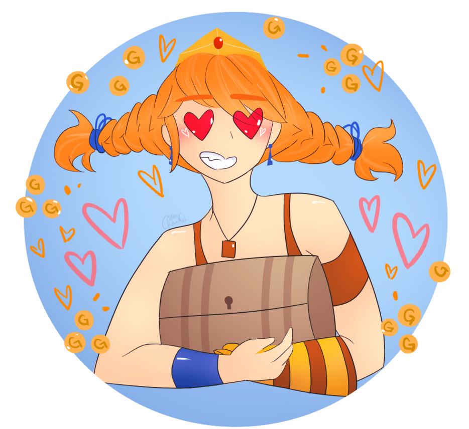 She just really likes. Treasure clipart crown
