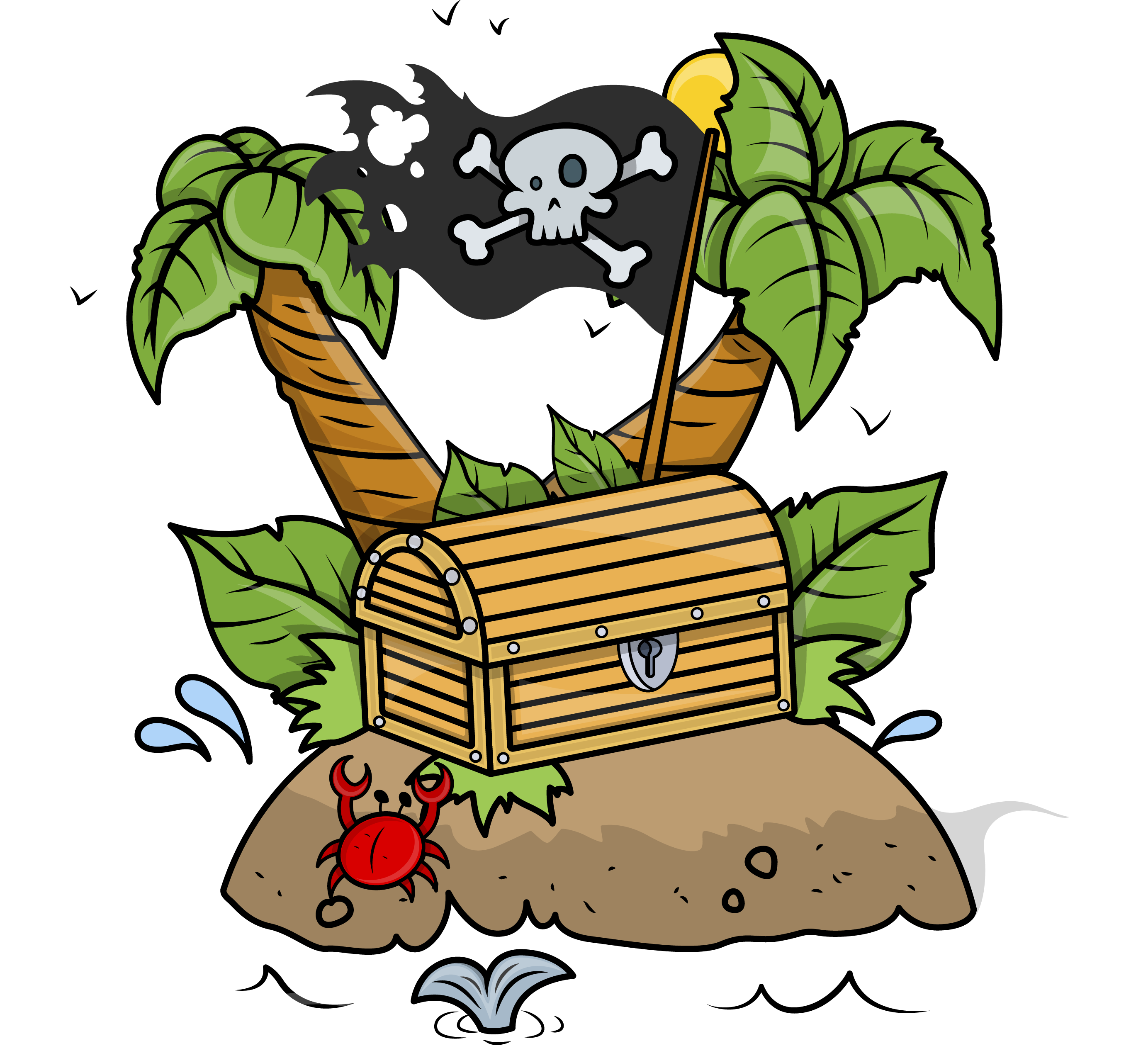 Pirate chest at getdrawings. Treasure clipart cute