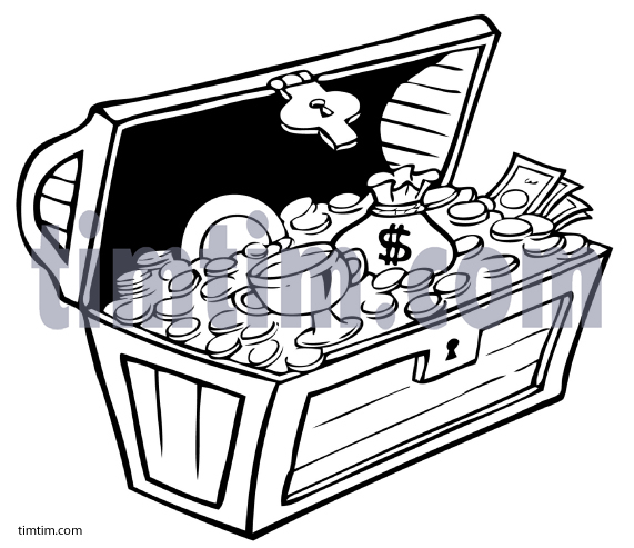 Treasure clipart drawing. Free of a pirate