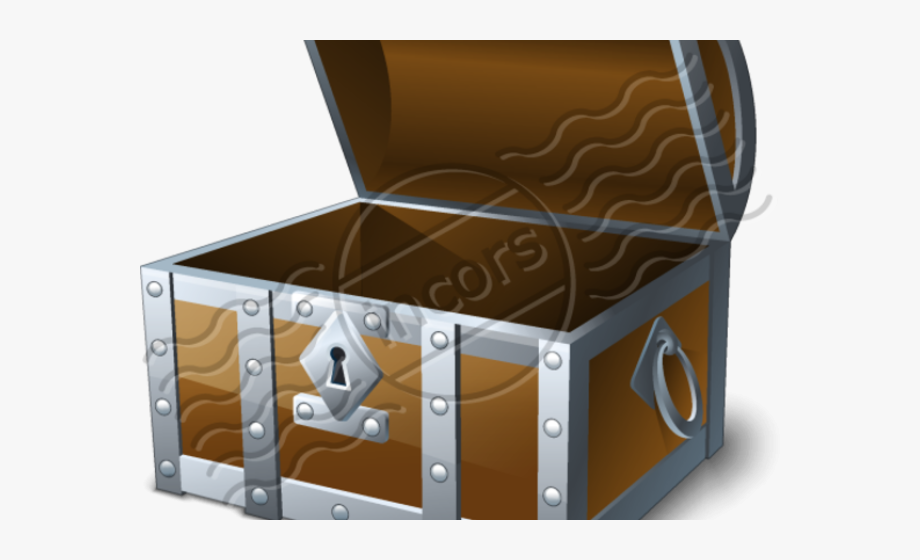 Trunk chest icon png. Treasure clipart empty