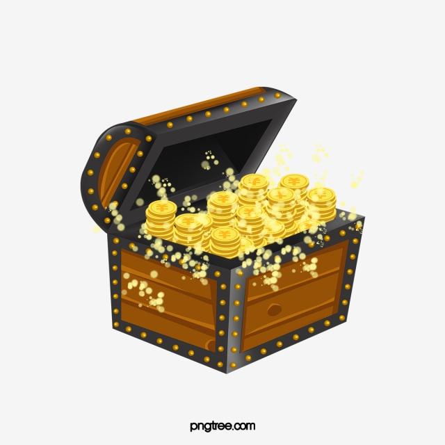 Glittering chest box png. Treasure clipart gold treasure