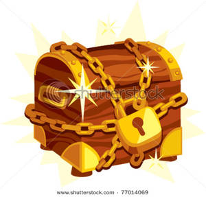 Treasure clipart locked box. Clip art image chained