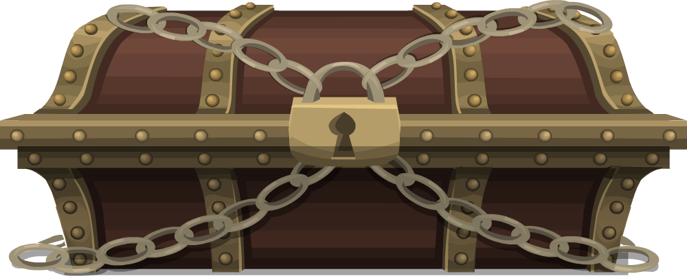 Chest png images free. Treasure clipart locked box