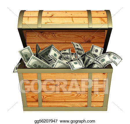 Stock illustration treasures illustrations. Treasure clipart money