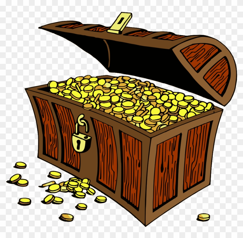 Gold pictures . Treasure clipart old chest