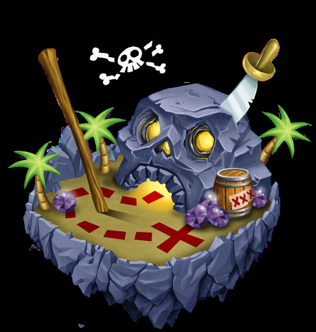 Islands mini game dragon. Treasure clipart pirate island