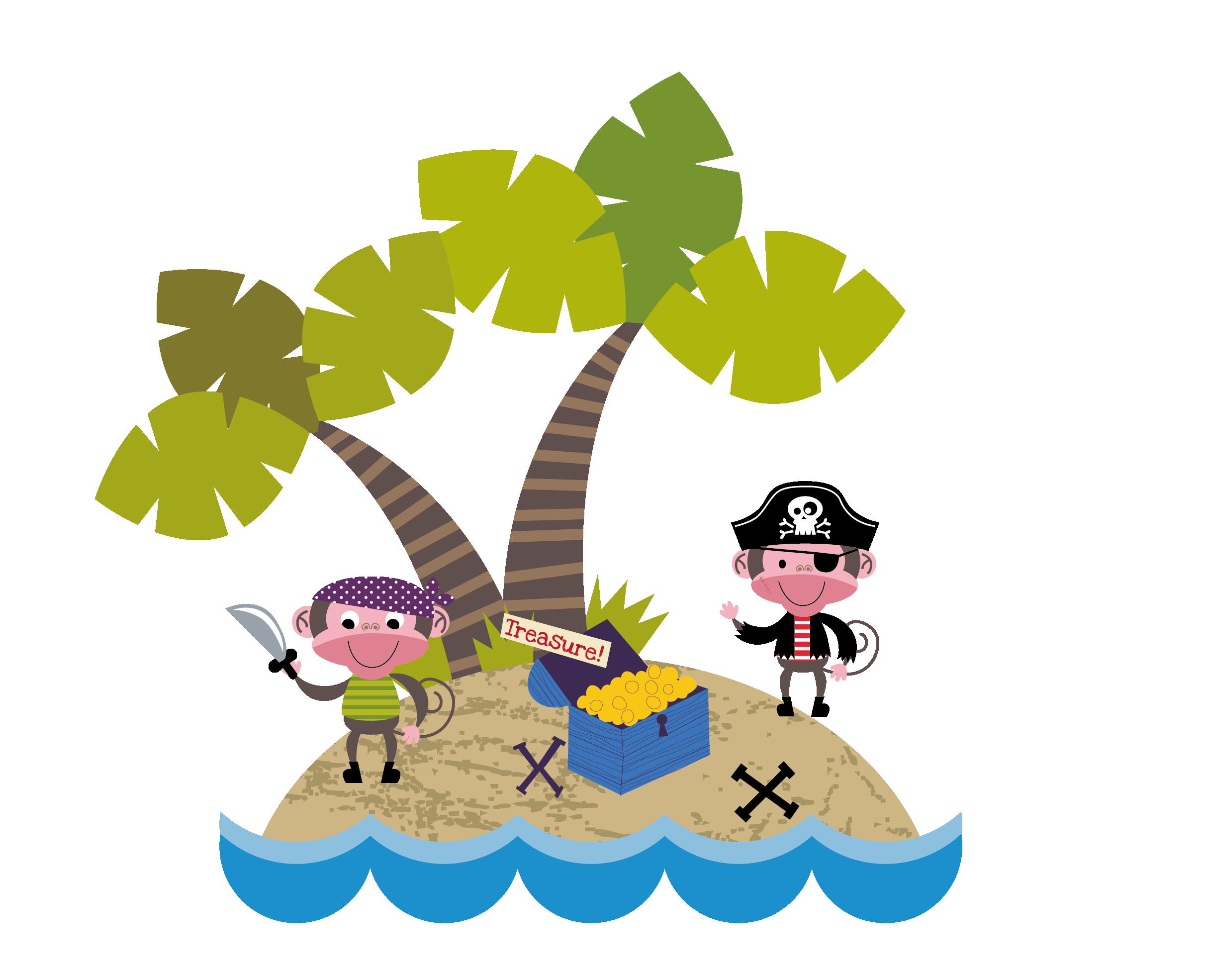 Treasure clipart pirate island. Cartoon piracy transprent png