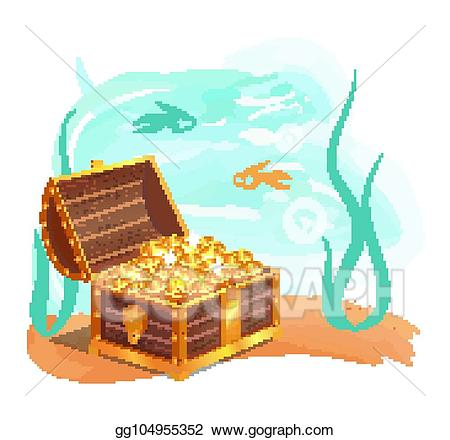 Treasure clipart precious. Vector stock gold treasures