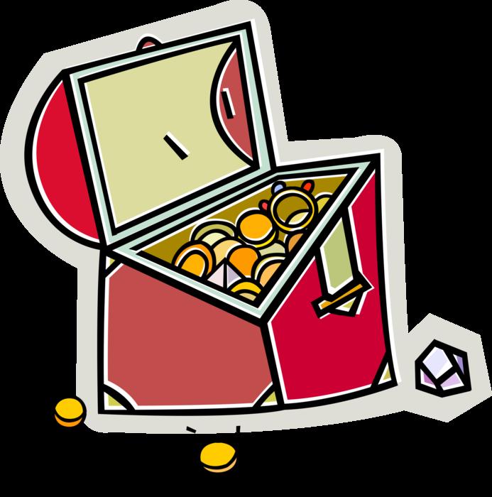 Pirate s chest vector. Treasure clipart riches