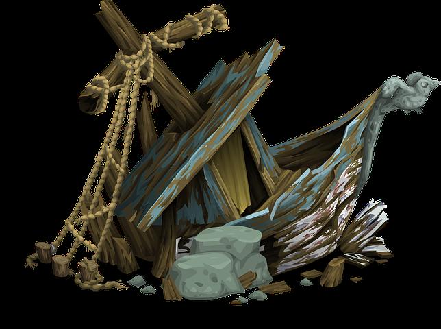 Treasure clipart sunken ship. Shipwreck abandoned carnage cras