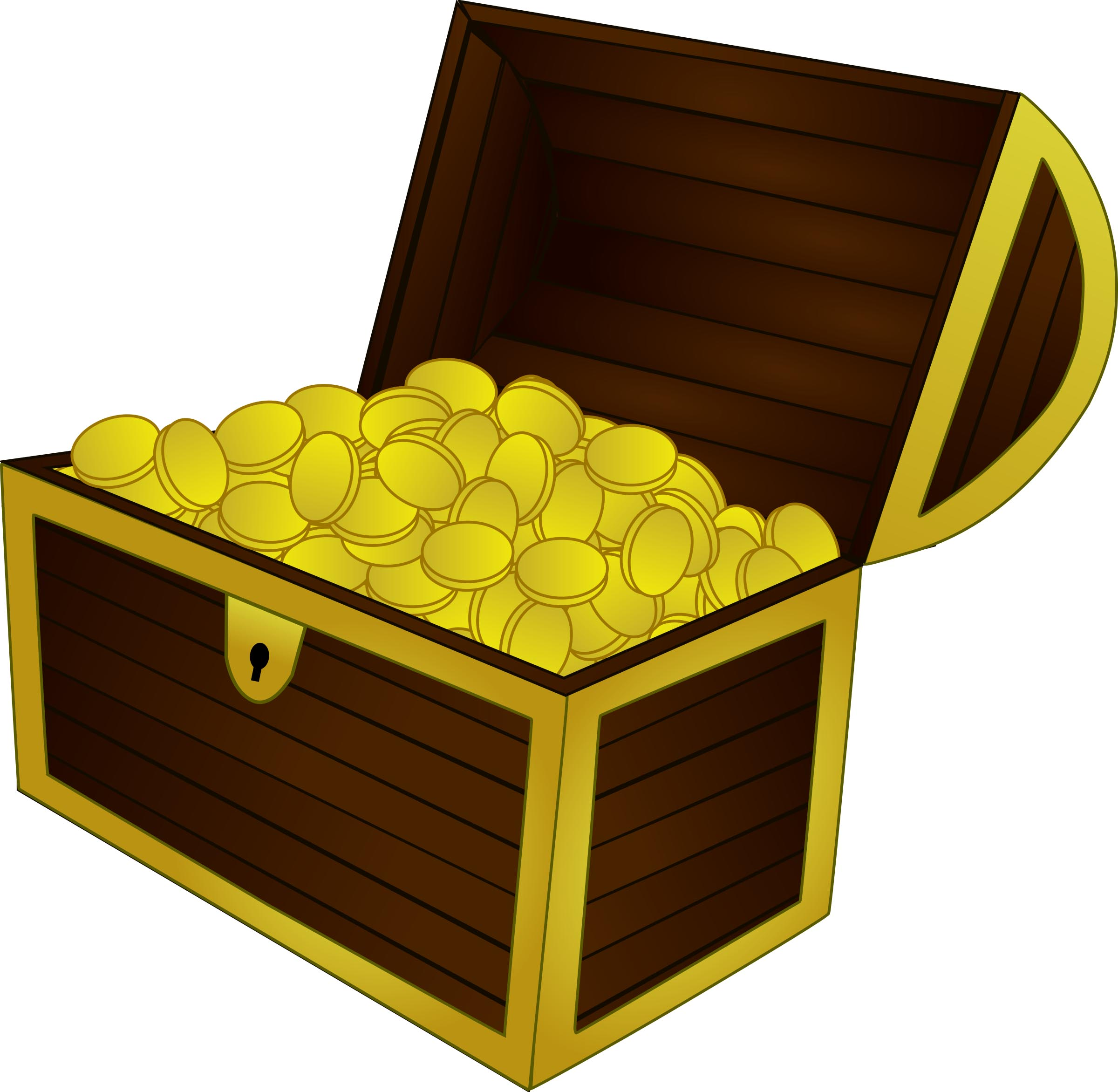 Treasure clipart treasure coin. Chest coins fulfilled free