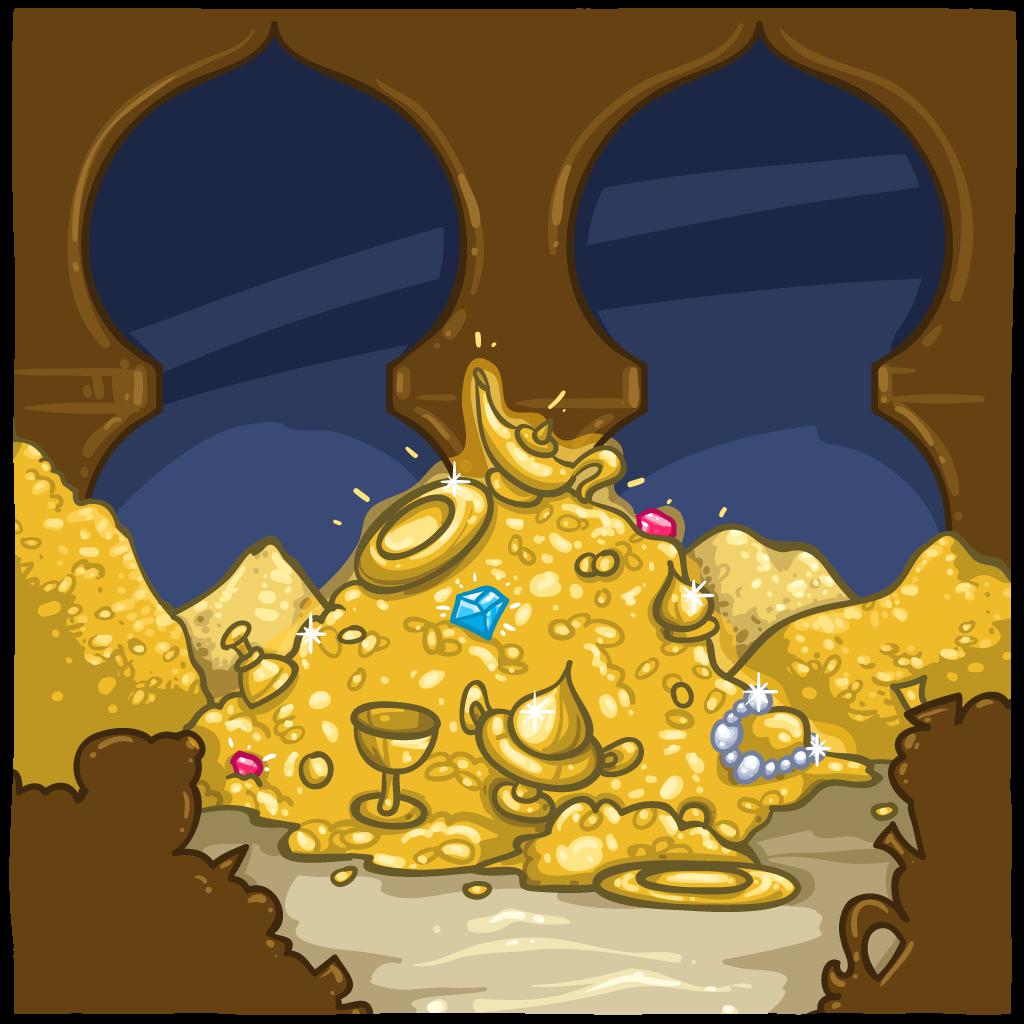 Treasure clipart treasure room. Item detail gold itembrowser