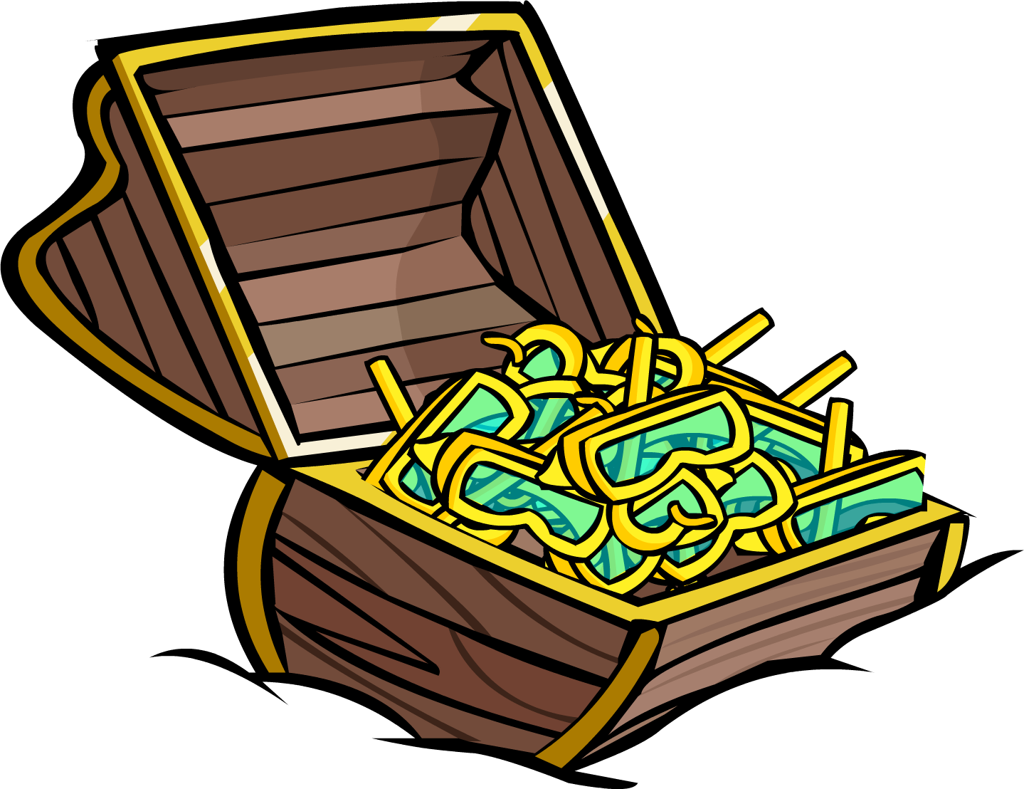 Image yellow snorkel chest. Treasure clipart treasure room