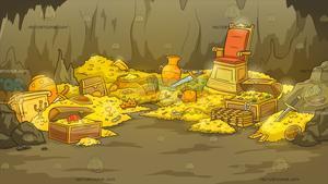 Cave background . Treasure clipart treasure room
