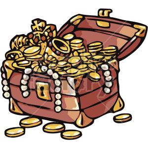Treasure clipart tresure. Cartoon chest royalty free