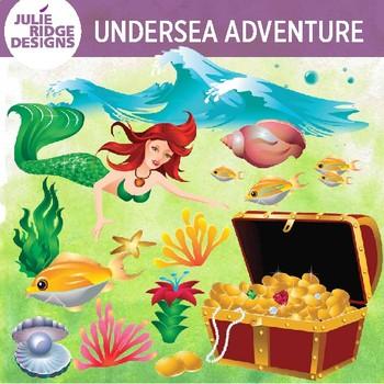 Undersea clip art with. Treasure clipart under sea