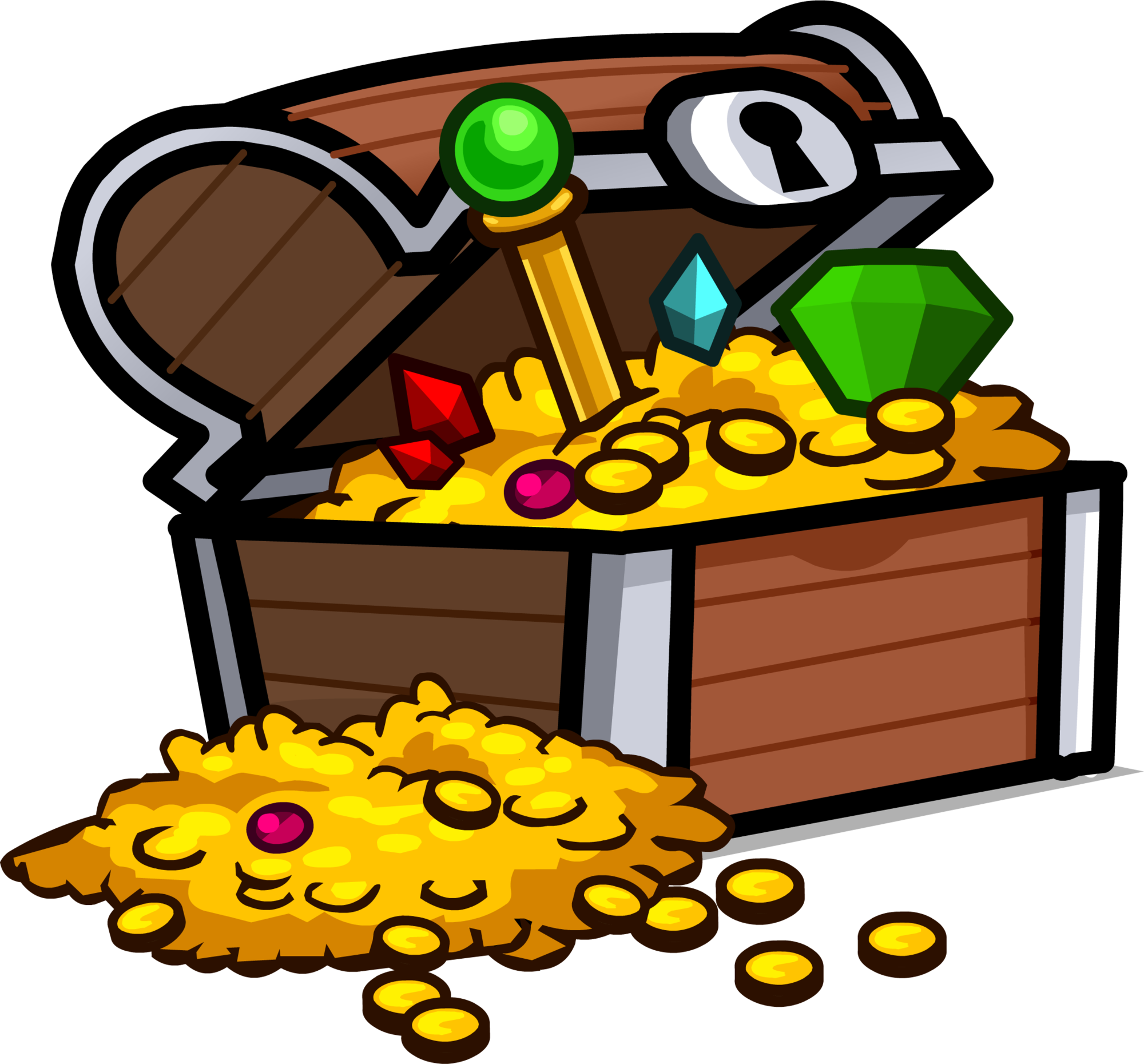 Treasure clipart underwate treasure. Chest club penguin wiki