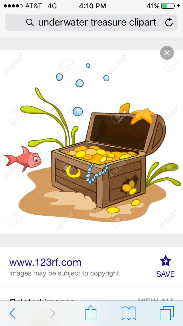 Treasure clipart underwater. Pin by char golden