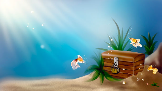 Treasure clipart underwater. Treasures free stock photo