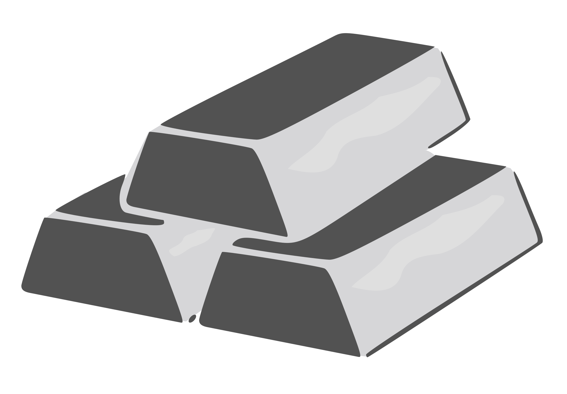 Silver bricks big image. Treasure clipart valuable
