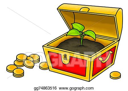 Drawing the true gg. Treasure clipart valuable