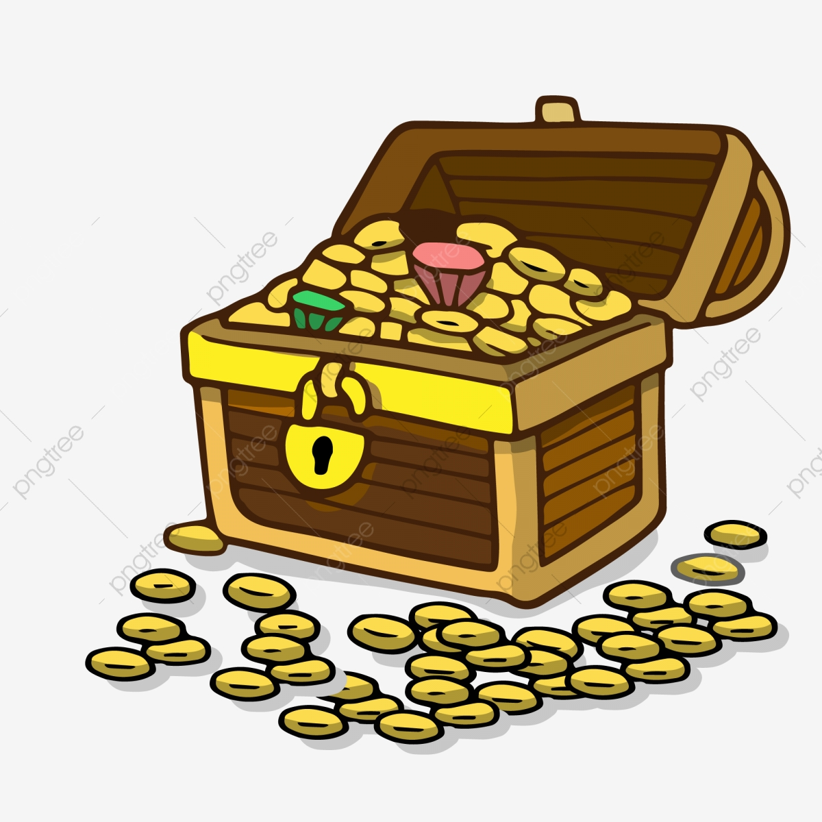 Treasure clipart vector. Box ui design icon