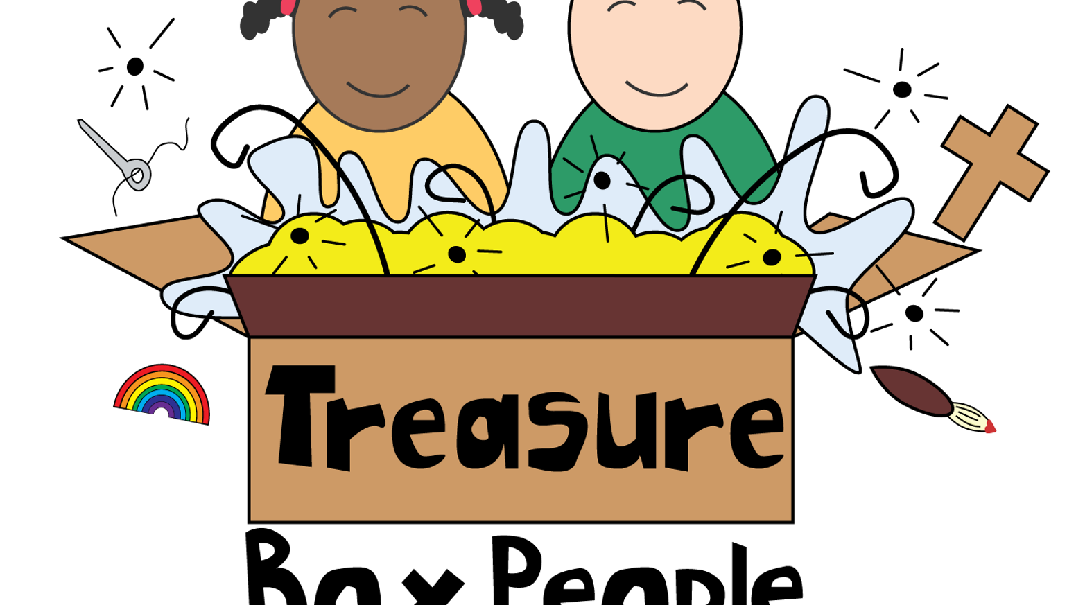 Treasure clipart word. The box people by
