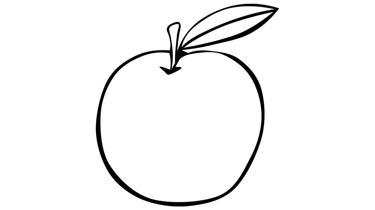 Tree clipart atis. Apple black and white