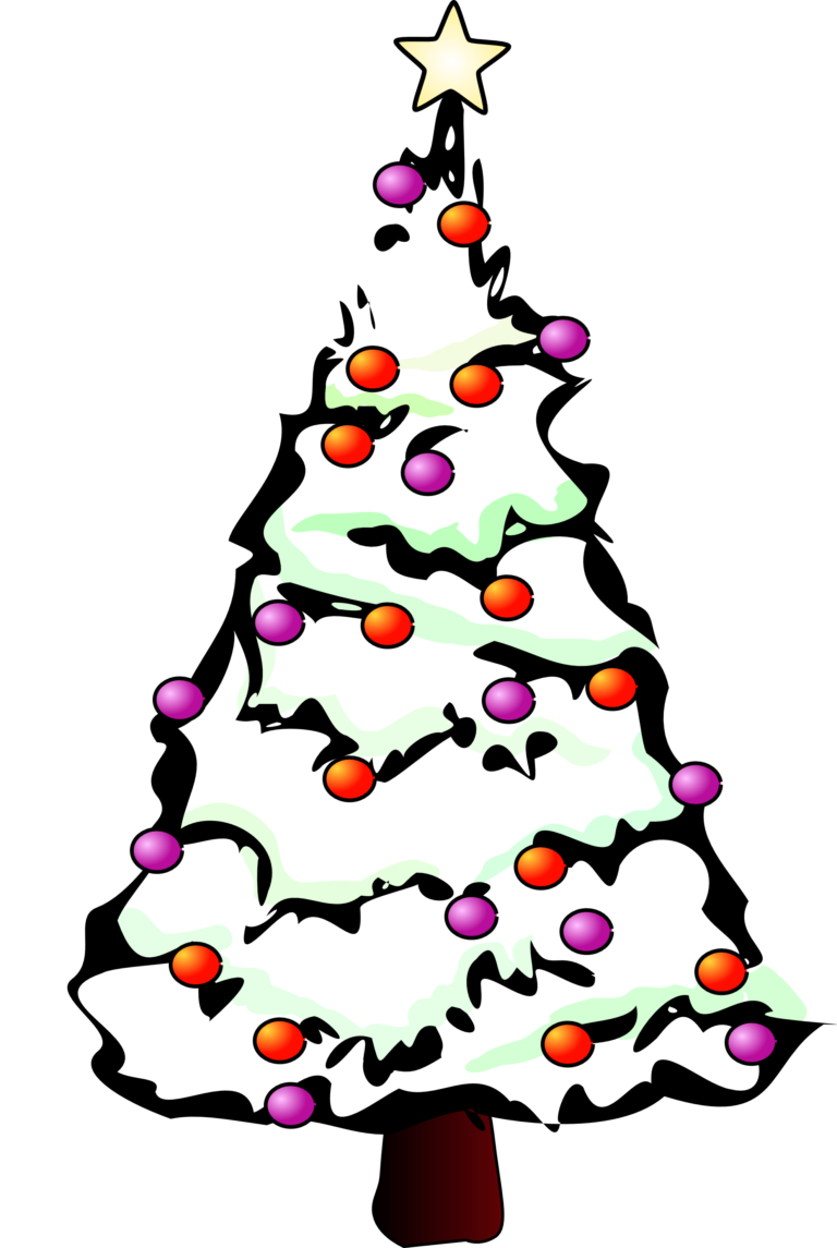 Tree clipart black and white. Christmas clipartfest wikiclipart