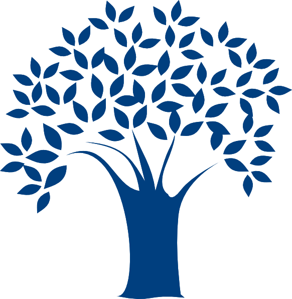 Clip art at clker. Tree clipart blue