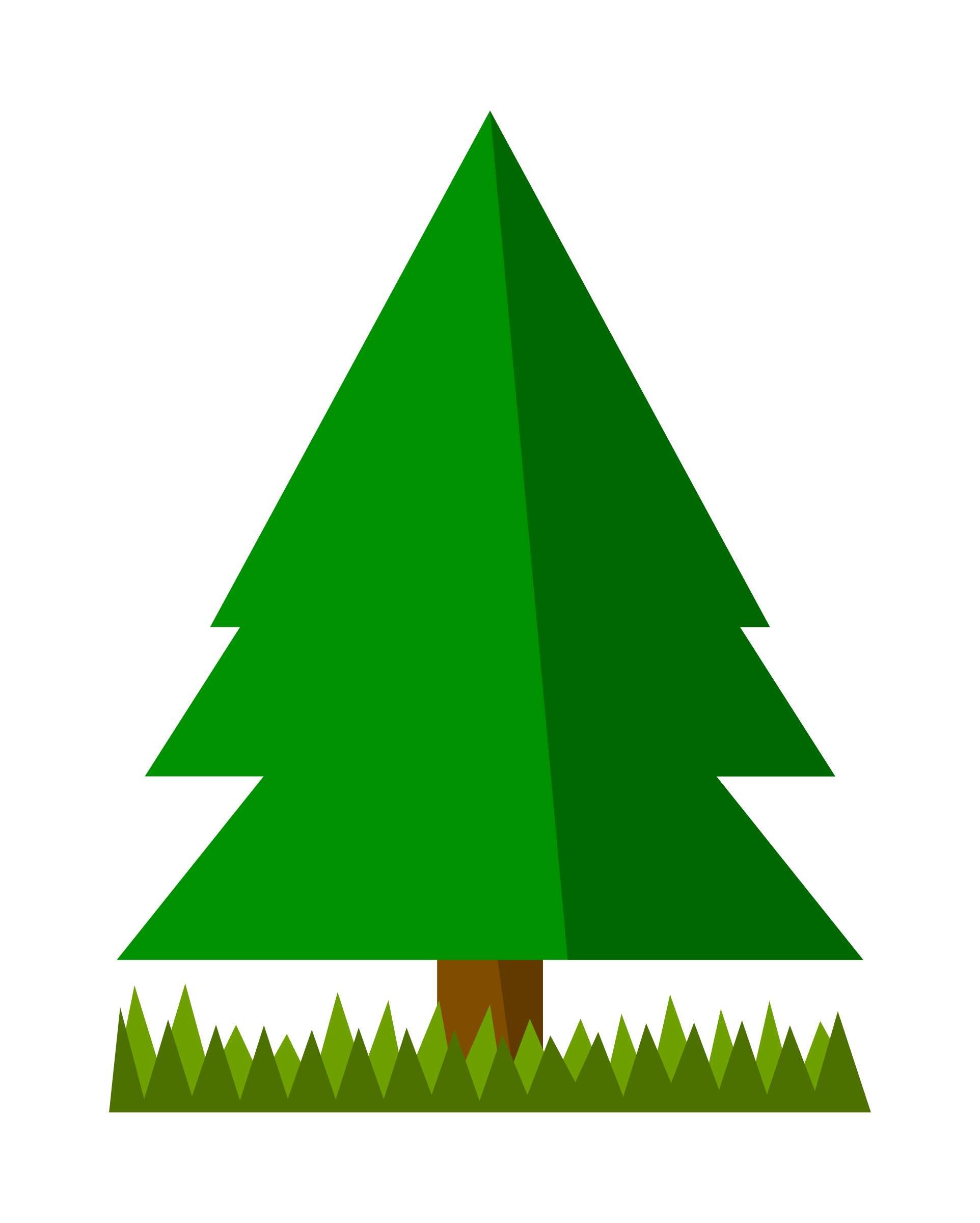 Tree clipart grass. Spruce with big image