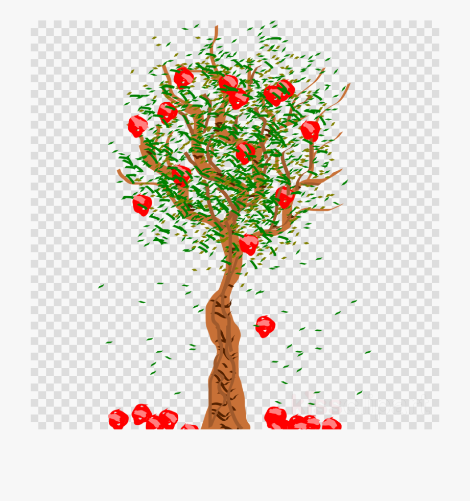 Tree clipart jack fruit. Apple falling from free